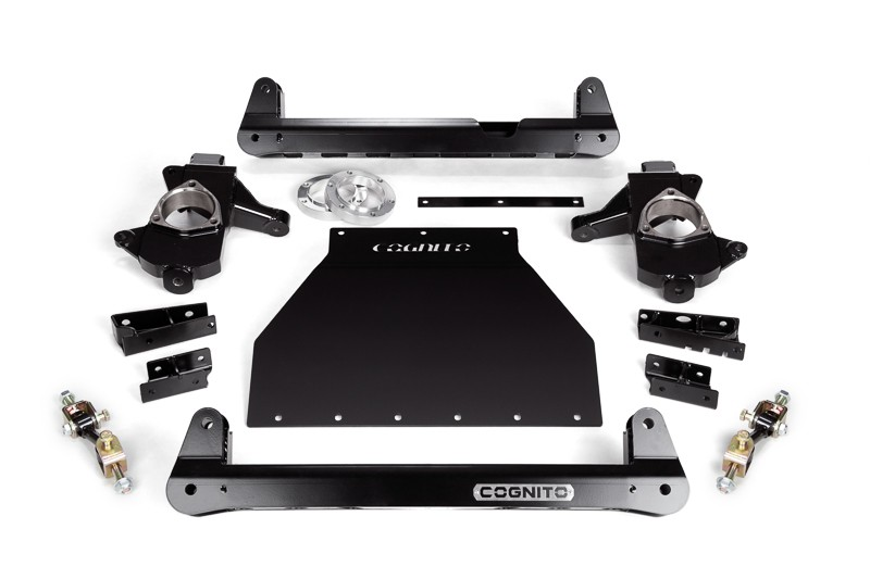 """COGNITO 4"""" STANDARD LIFT PACKAGE FOR 2014-2018 GM 1500 2WD TRUCKS WITH OE CAST STEEL UPPER AND LOWER CONTROL ARMS"""
