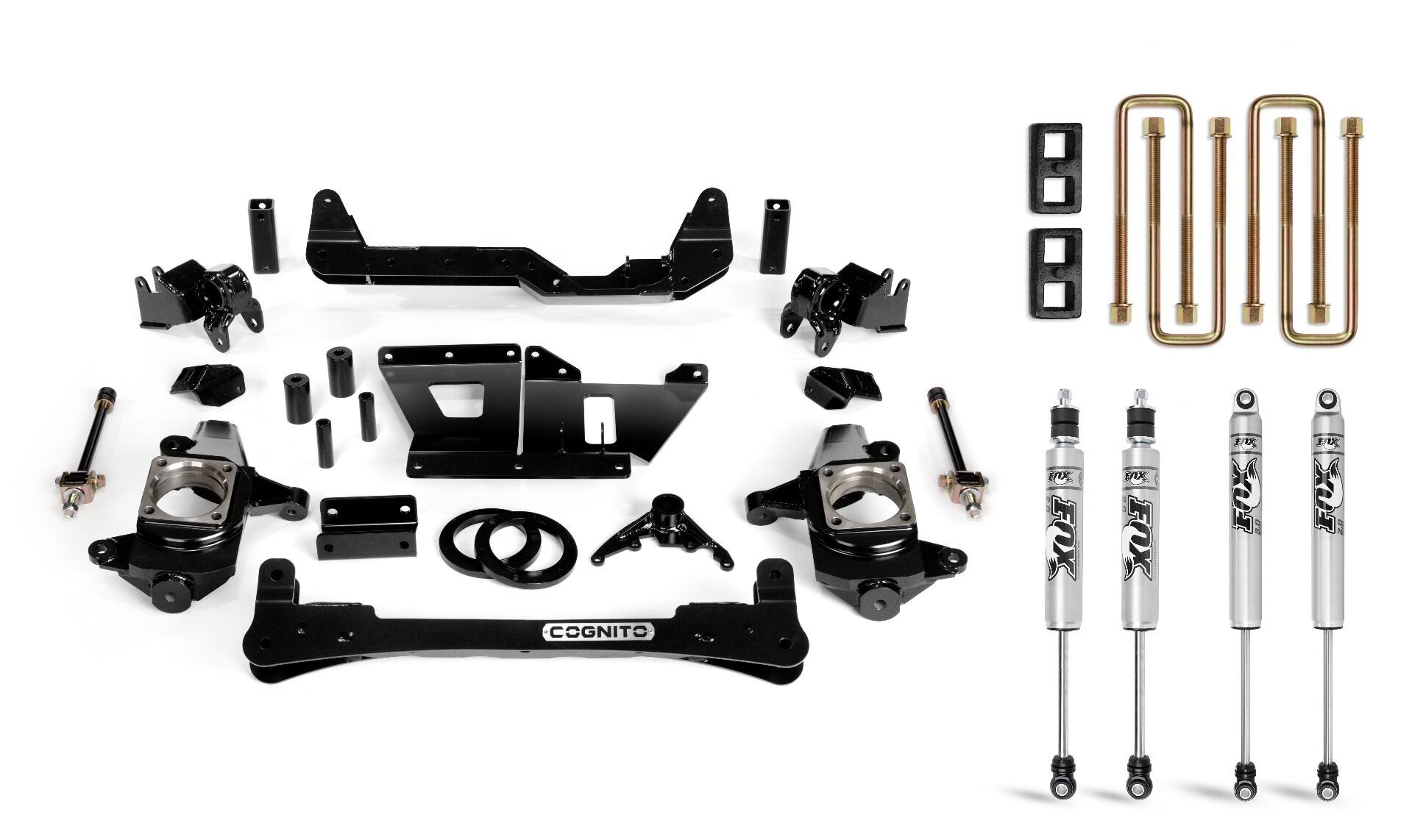 """Cognito 4"""" Standard Lift Kit With Fox PS 2.0 Shocks"""