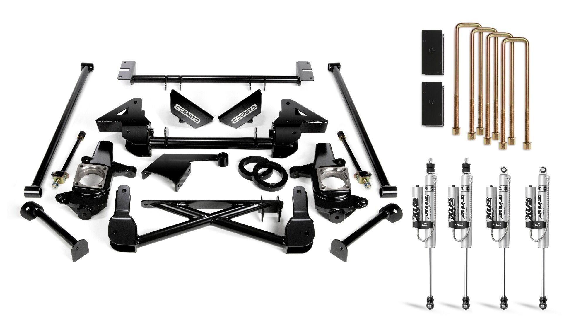 """Cognito 7"""" Standard Lift Kit With Fox PS 2.0 IFP Shocks"""