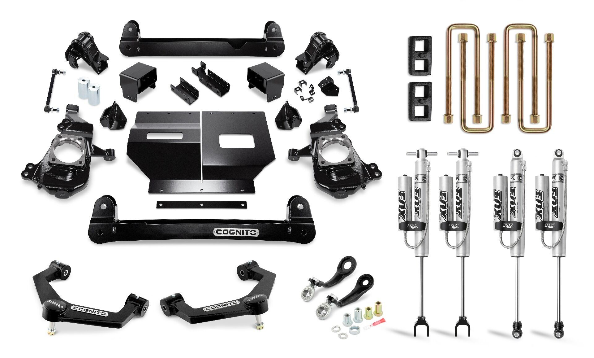 "Cognito 4"" Performance Lift Kit with Fox Remote Reservoir Shocks"