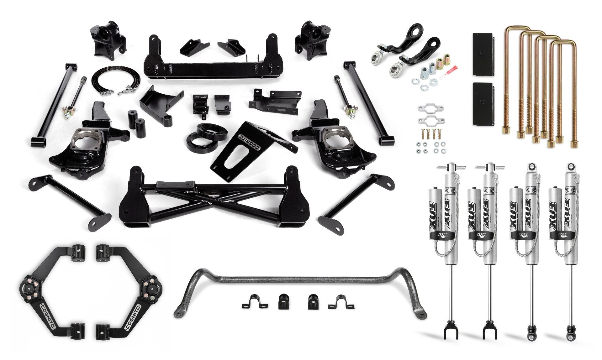 """Cognito 7"""" Performance Lift Kit with Fox PSRR 2.0"""
