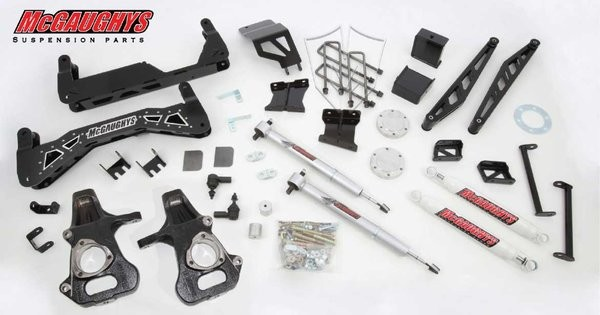 "McGAUGHYS 2007-2013 GM Truck 1500 (2WD) - 7"" Premium Stainless Steel Lift Kit"