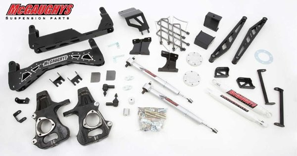 "McGAUGHYS 2014-2016 GM Truck 1500 (4WD) w/ Cast Steel Factory A-Arms ONLY-  7"" Premium Stainless Steel Lift Kit"