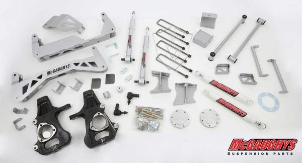 "McGAUGHYS  2014-2018 GM Truck 1500 (4WD) w/ Cast Steel Factory A-Arms ONLY- 7"" Premium Stainless Steel Lift Kit"
