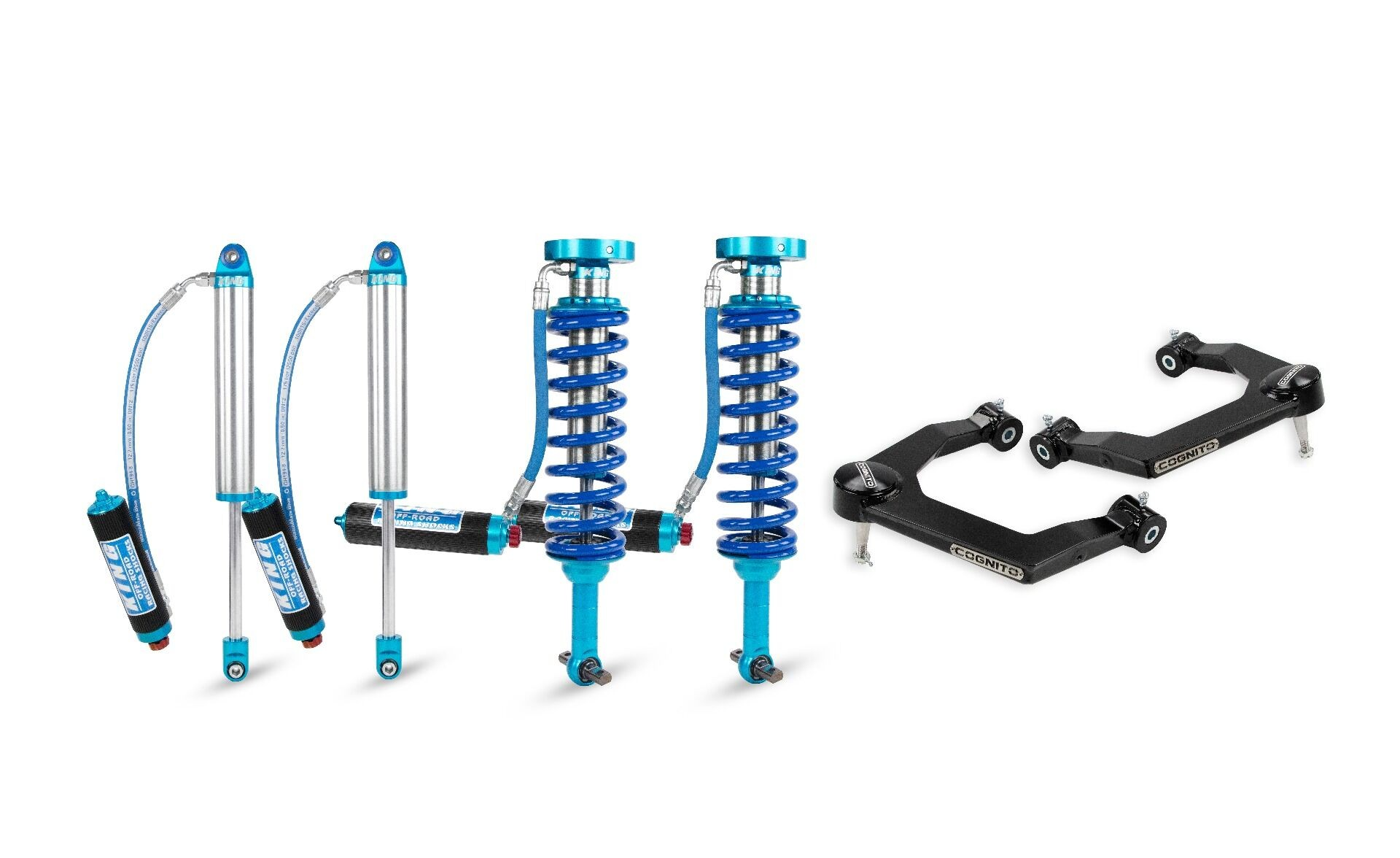 """Cognito 1"""" Elite Uniball Leveling Kit With King 2.5 Shocks"""