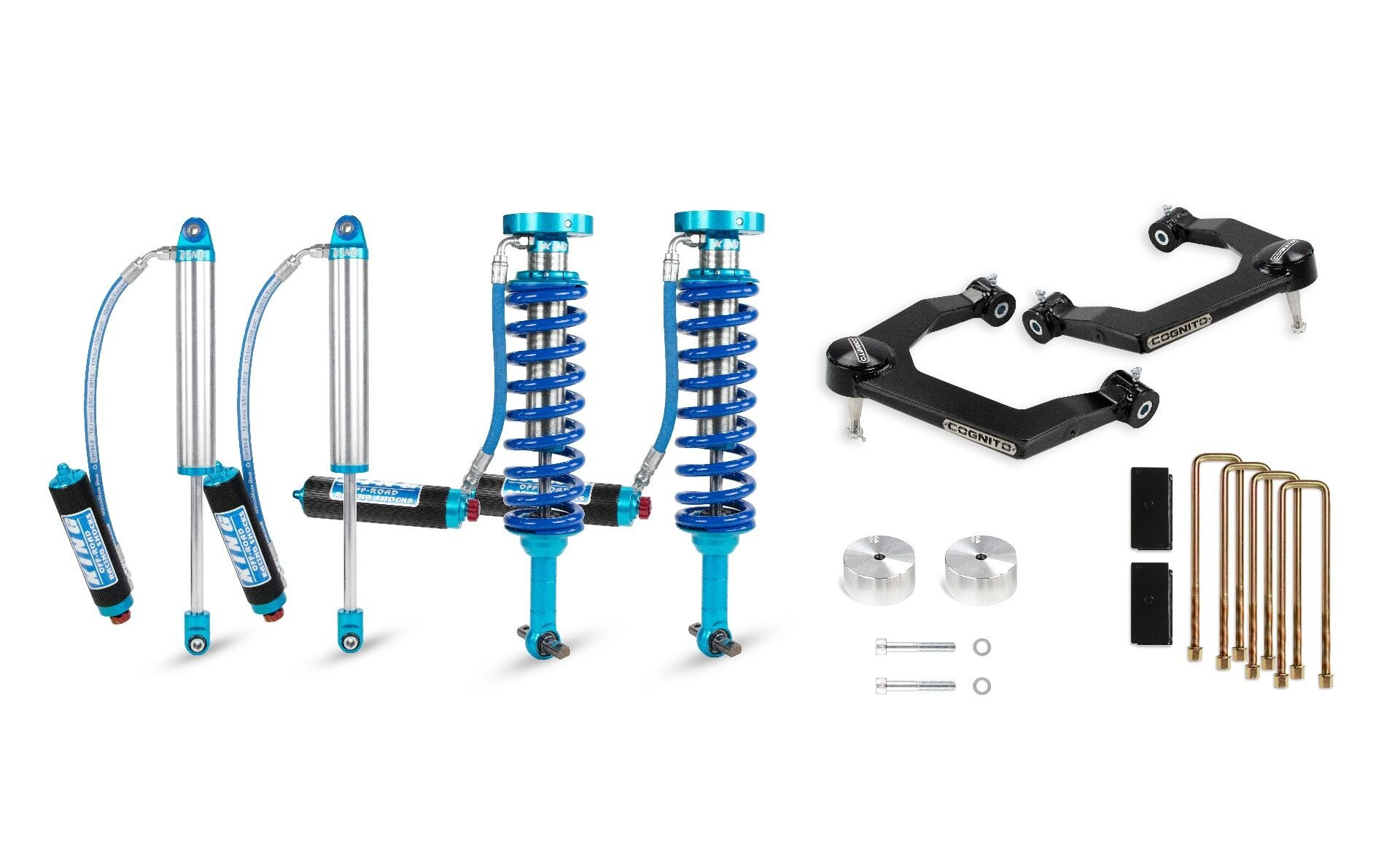 """Cognito 3"""" Elite Uniball Leveling Lift Kit With King 2.5 Shocks"""