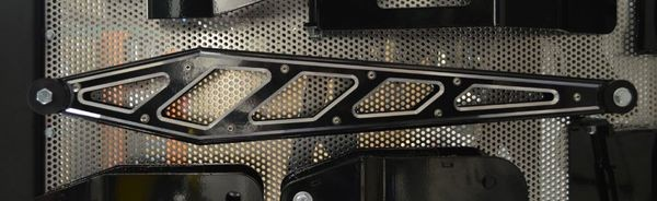 Mcgaughys  Billet Face Plates for Boxed Compression Struts (Gloss Black), 2011-2018 GM Truck 2500/3500 (2WD/4WD)