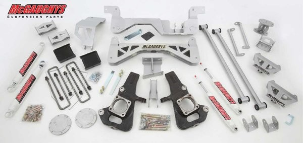 "McGAUGHYS  2002-2010 GM 3500 (2WD, Gas Motor)- 7"" Premium Lift Kit"