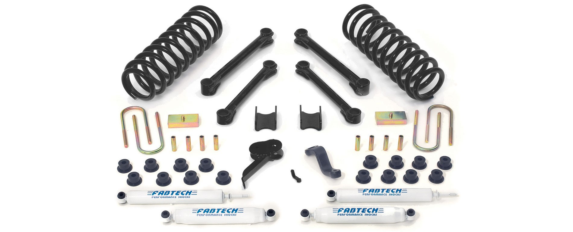 "FABTECH - 2009-13 Dodge/Ram 2500/3500 4WD -Diesel Only 4.5"" Performance System w/ Performance Shocks"
