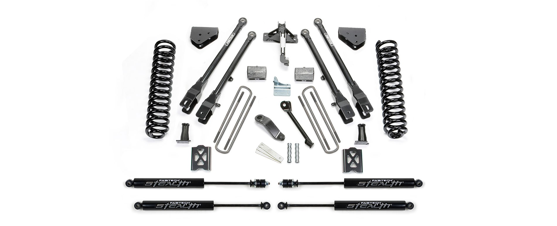"FABTECH  2005-07   6"" 4 Link System -Ford F250 4WD w/o Factory Overload"