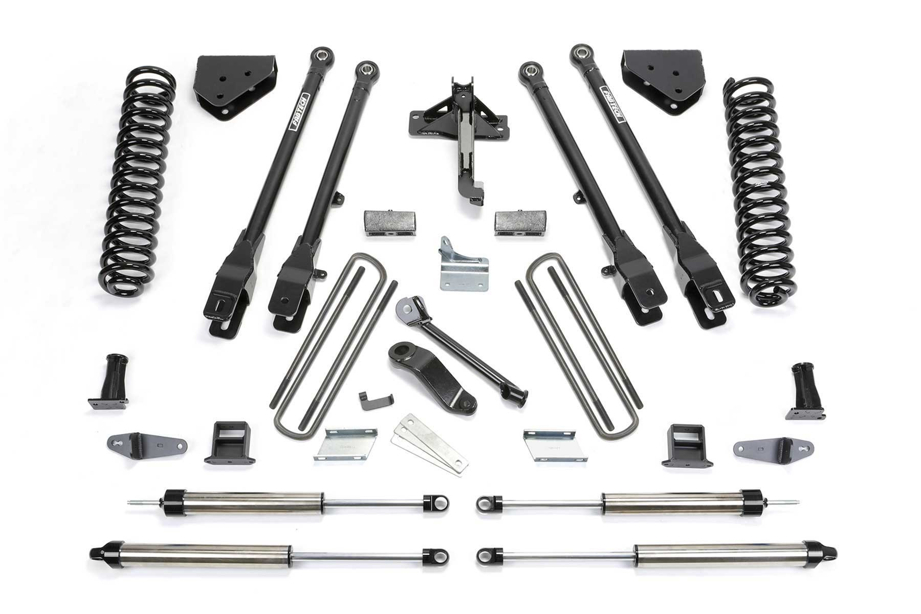 FABTECH 2008-16 Ford F250 4WD-  10″ 4 LINK SYSTEM W/ DIRT LOGIC SHOCKS