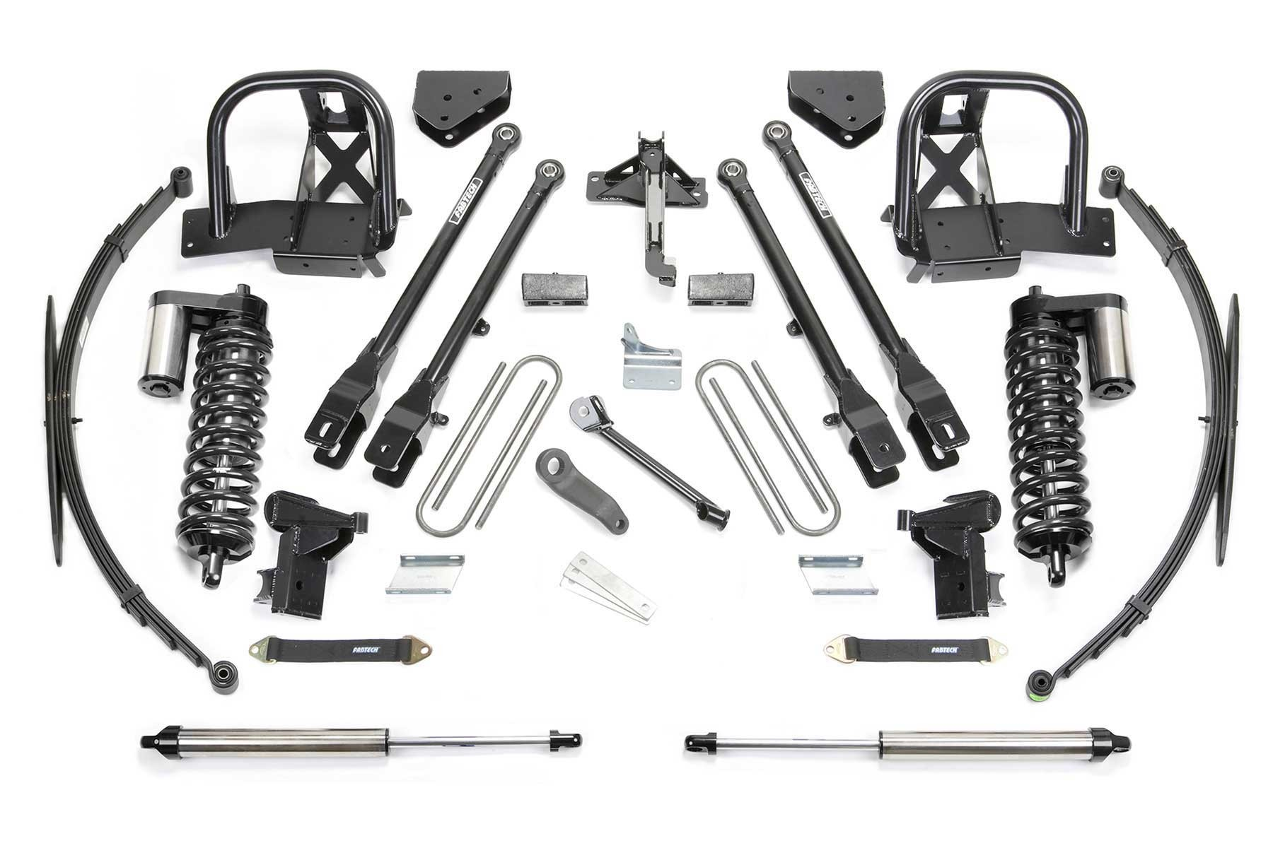 FABTECH 2008-10 Ford F250 4WD- 10″ 4 LINK SYSTEM W/ DIRT LOGIC 4.0 COILOVERS & REAR DIRT LOGIC SHOCKS