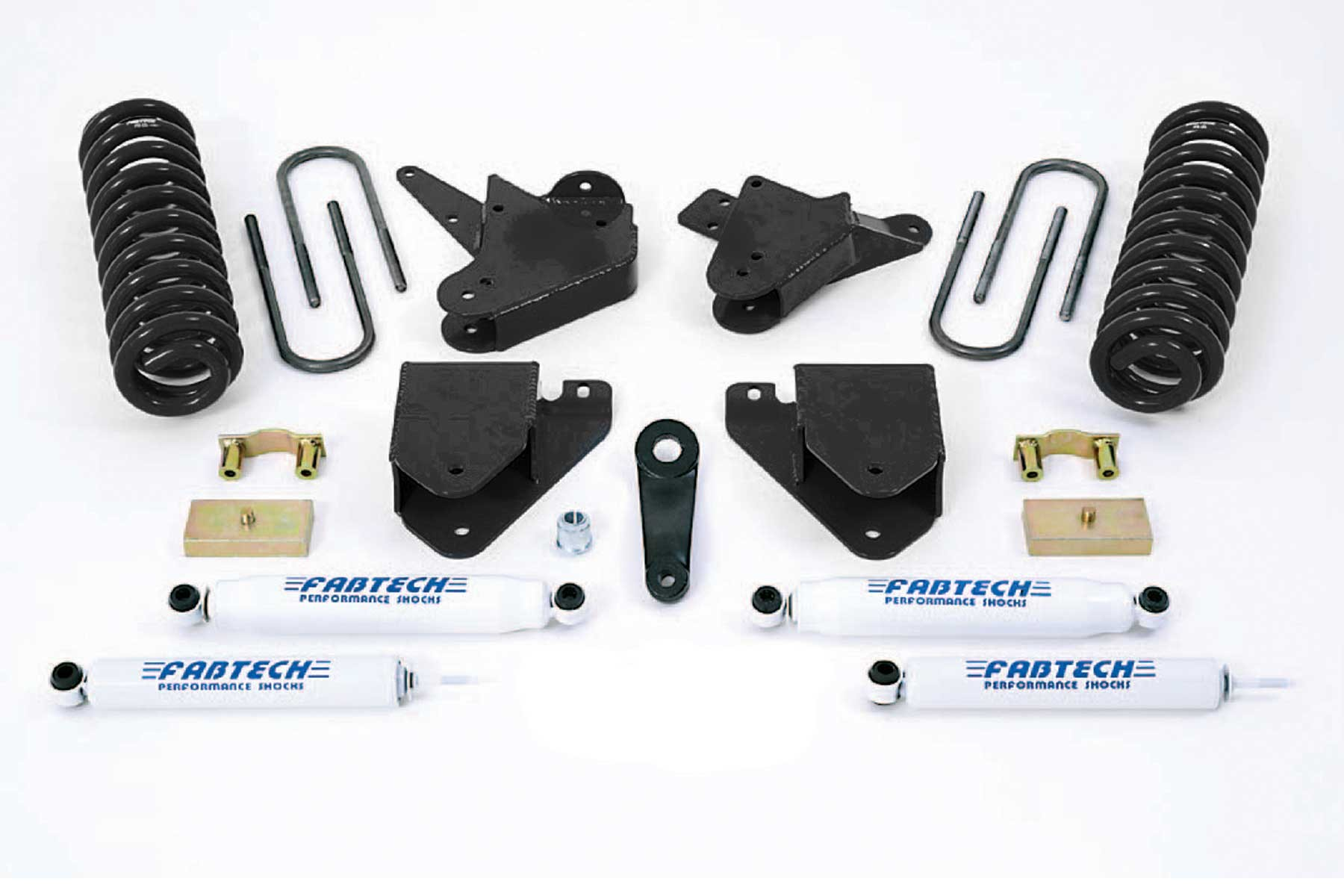 FABTECH  1999-00 FORD  F250 / F350 2WD W/GAS OR 6.0L DIESEL- 6″ BASIC SYSTEM W/ SHOCKS