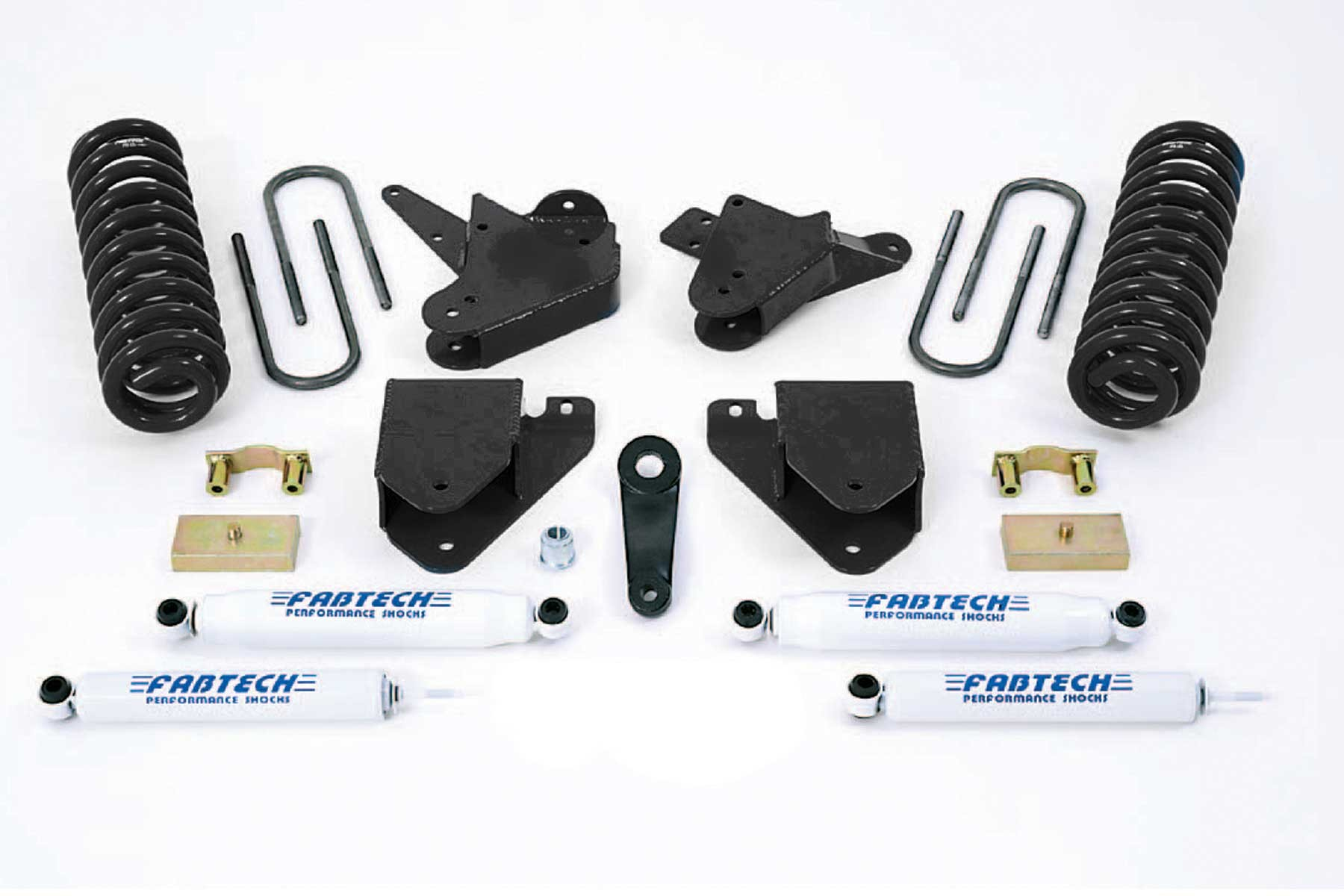 FABTECH 2001-04 FORD F250 / 350 2WD [GAS OR 6.0L DIESEL] - 2000-05 EXCURSION F250 / 350 2WD [GAS OR 6.0L DIESEL]-6″ BASIC SYSTEM W/ SHOCKS