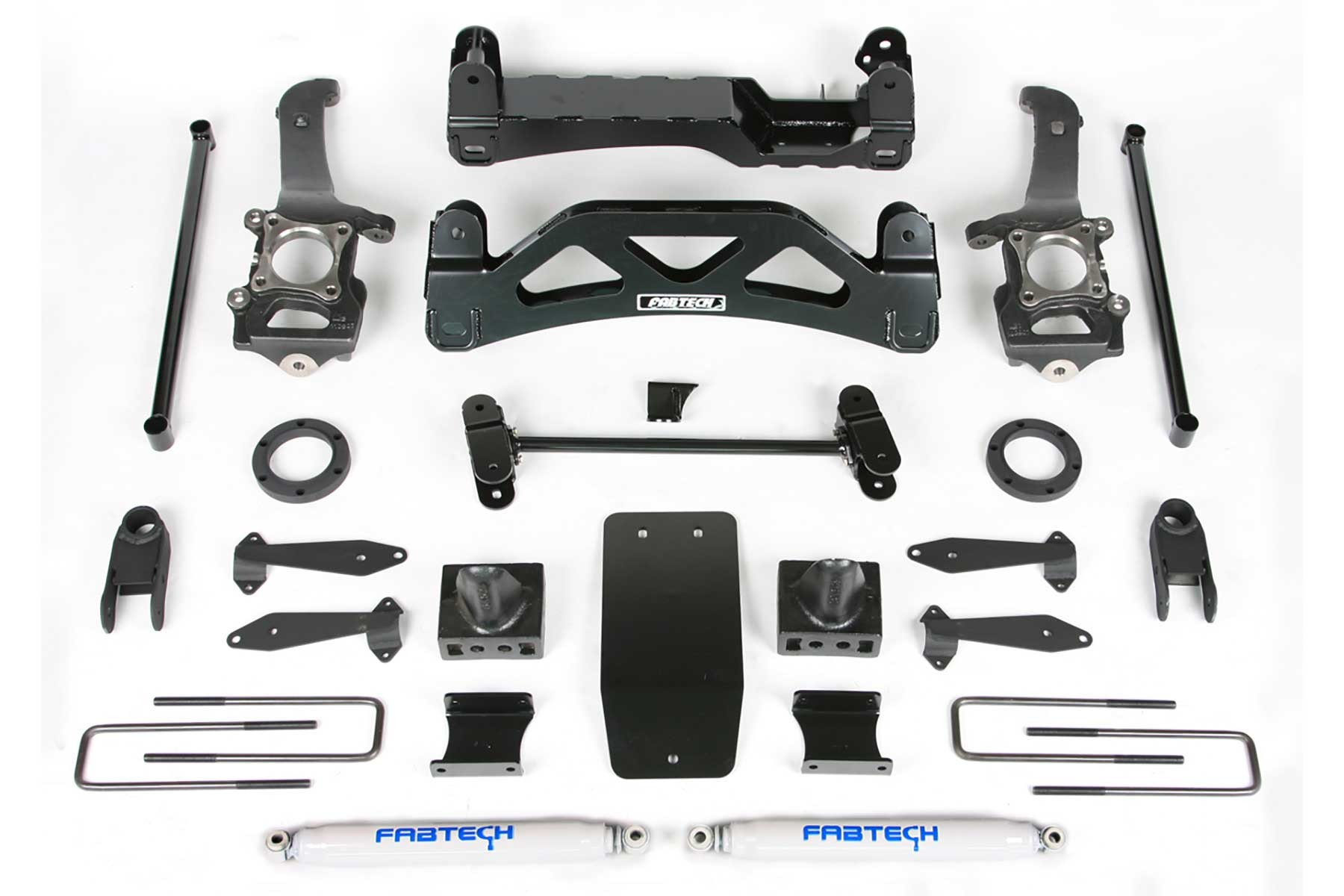 FABTECH 2004-08 FORD FORD F150 4WD- 6″ BASIC SYSTEM W/ FRONT STOCK COILOVER SPACER & REAR SHOCKS