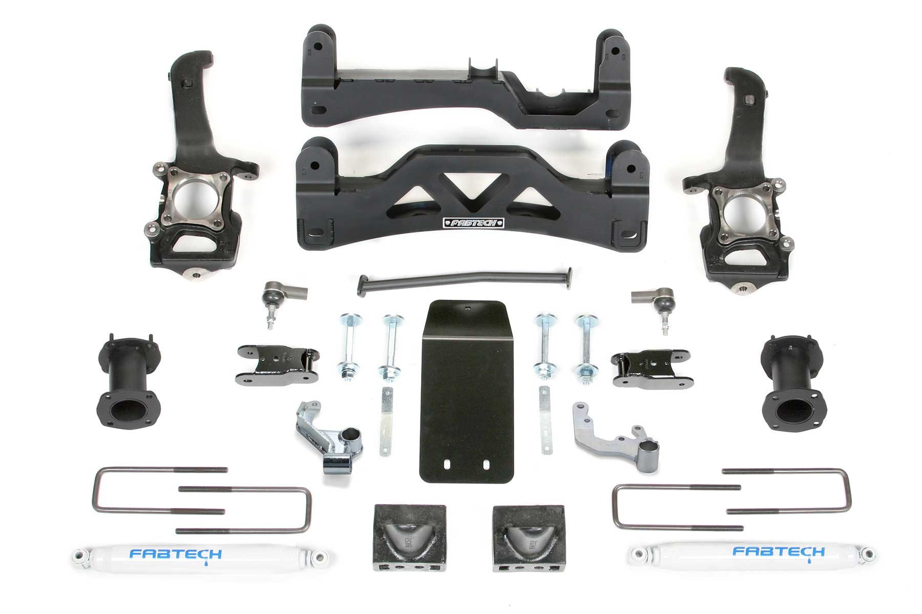 FABTECH- 2009-13 FORD F150 4WD- 6″ BASIC SYSTEM GEN II W/ FRONT STOCK COILOVER SPACERS & REAR PERFORMANCE SHOCKS