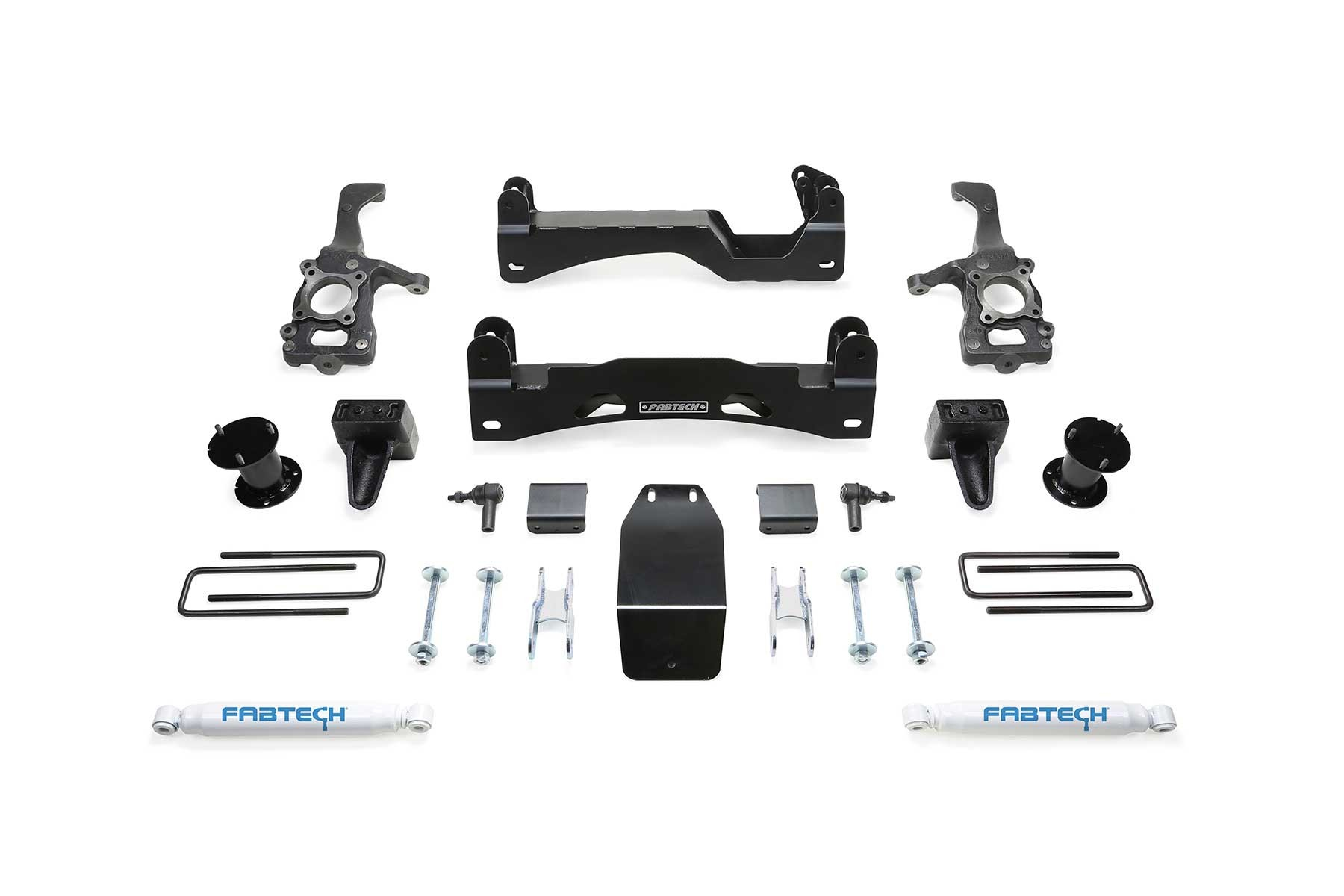 FABTECH- 2015 18 FORD F150 4WD- 6″ BASIC SYSTEM W/ FRONT STOCK COILOVER SPACERS & REAR PERFORMANCE SHOCKS