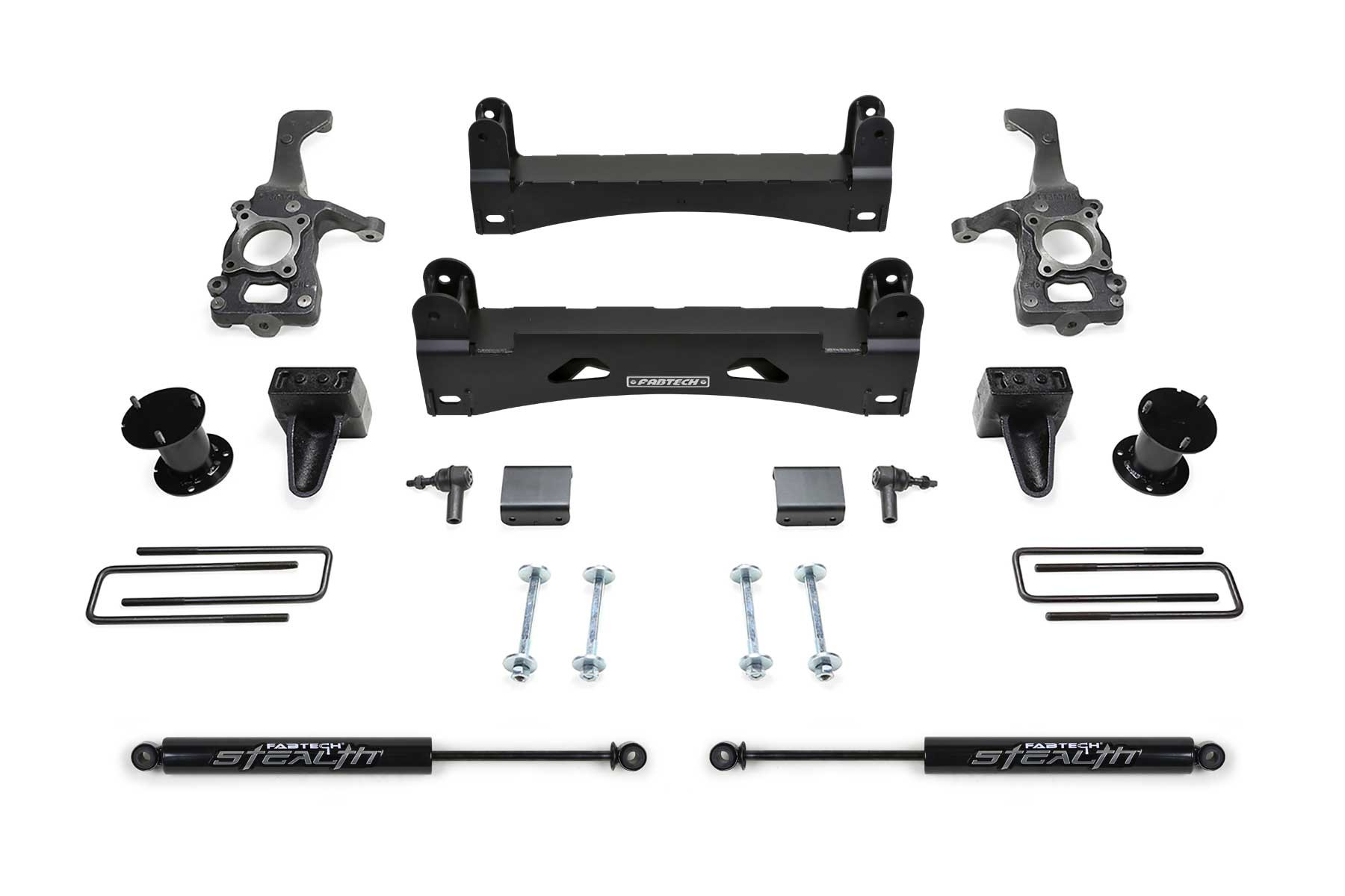 FABTECH-  2015-18 FORD F150 2WD-6″ BASIC SYSTEM W/REAR SHOCKS