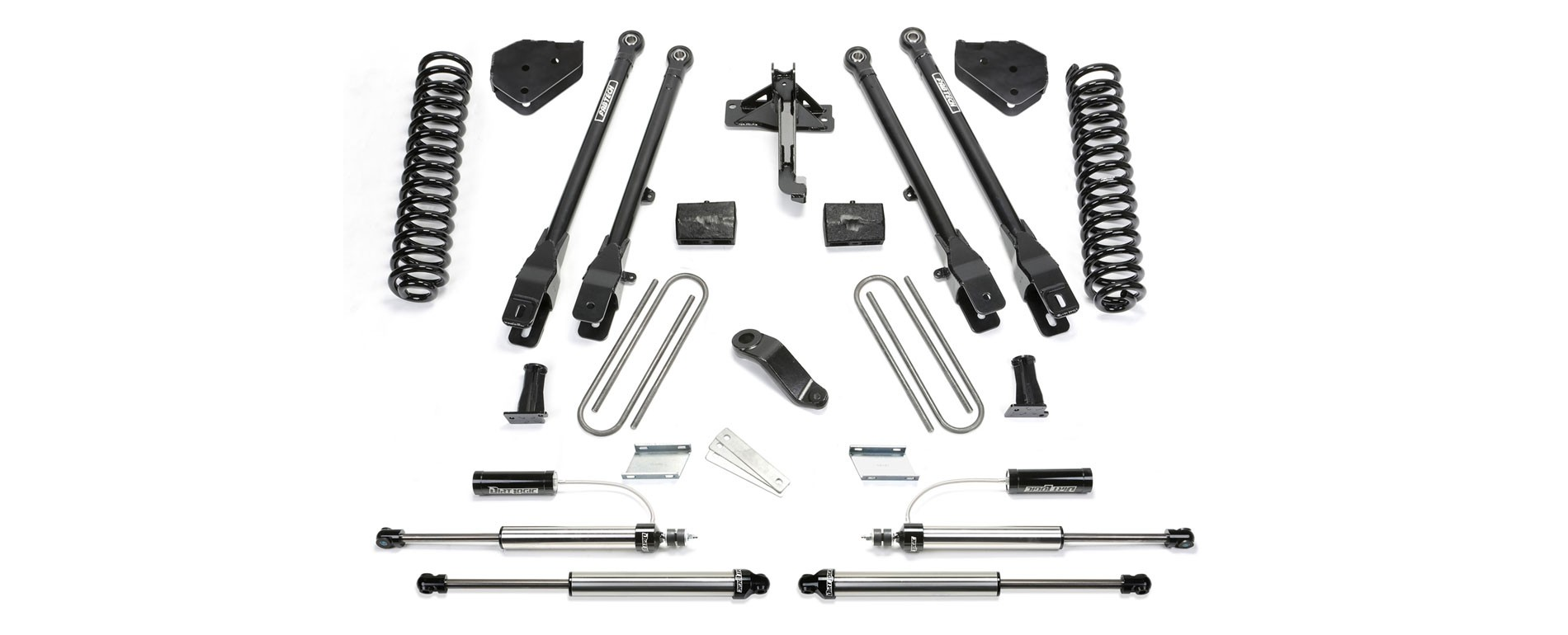 "FABTECH - 2017  4"" 4 Link System w/ Front Dirt Logic 2.25 Resi Shocks & Rear Dirt Logic 2.25 Shocks - Ford F250/F350 4WD"