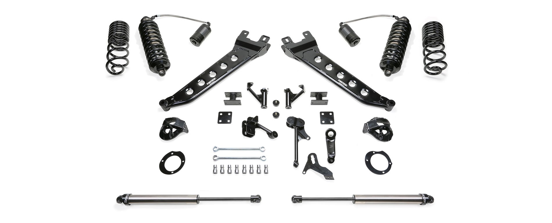 "FABTECH 5"" Radius Arm System w/ Dirt Logic 4.0 Resi Coilovers & Dirt Logic Shocks - 2014-17 Ram 2500 4WD"