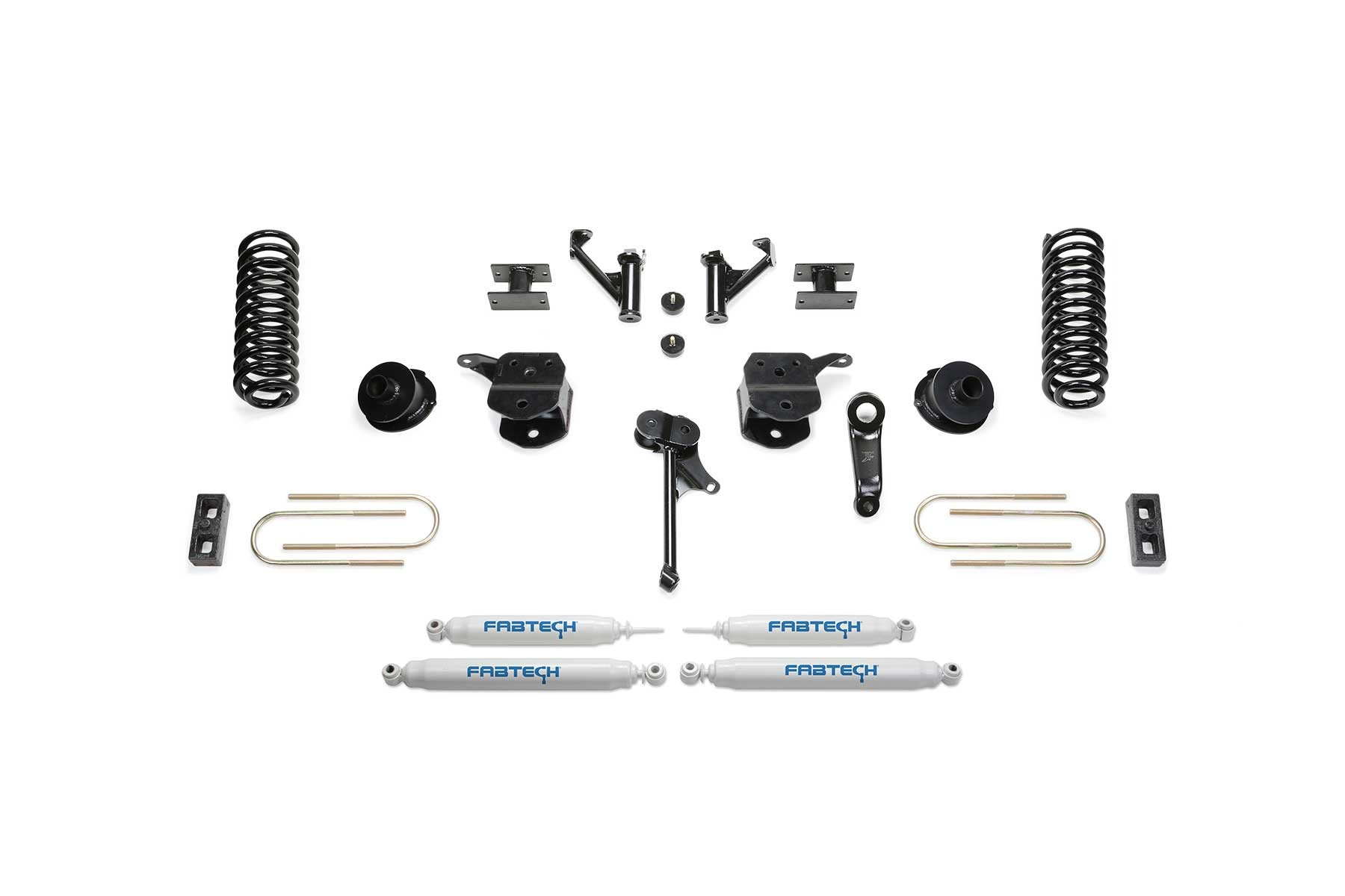 FABTECH 2013-18 RAM 3500 4WD- 5″ BASIC SYSTEM W/COIL SPRINGS &  SHOCKS