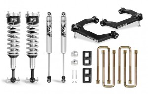 "Cognito 3"" Performance Uniball Leveling Lift Kit with Fox PS Coilover 2.0 IFP"
