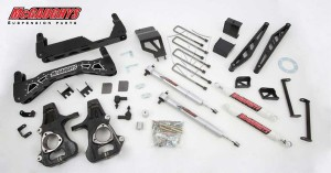 """McGAUGHYS 2014-2016 GM Truck 1500 (2WD) w/ Cast Steel Factory A-Arms ONLY Part - 7"""" Premium Stainless Steel Lift Kit"""