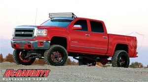 "McGAUGHYS 2014-2018 GM Truck 1500 (4WD) w/ Cast Steel Factory A-Arms ONLY - 7"" Premium Stainless Steel Lift Kit"