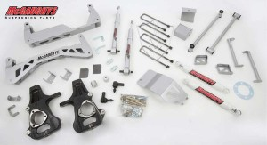 """McGAUGHYS 2014-2016 GM Truck 1500 (2WD) For FACTORY CAST Steel or Aluminum A-Arm Trucks- 7"""" Premium Stainless Steel Lift Kit"""