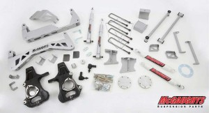 """McGAUGHYS  2014-2016 GM Truck 1500 (4WD) w/ Cast Steel Factory A-Arms ONLY- 7"""" Premium Stainless Steel Lift Kit"""