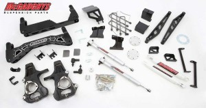"""McGAUGHYS 2014-2018 GM Truck 1500 (4WD) For FACTORY Stamped Steel or Aluminum A-Arm Trucks-  7"""" Premium Stainless Steel Lift Kit"""