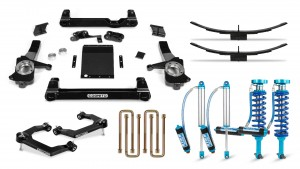 "Cognito 4"" Elite Lift Kit with King 2.5 Remote Reservoir Shocks"