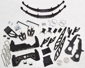 "McGAUGHYS 10"" Premium Black Stainless Steel Lift Kit for 2011-2018 GM Truck 2500/3500 (2WD/4WD, GAS & DIESEL)"