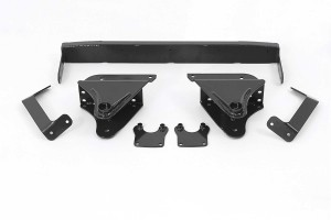 FABTECH 1999-00 Ford F250 / F350 WD-  3.5″ FRONT SPRING HANGER SYSTEM W/ PERFORMANCE SHOCKS