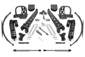 FABTECH  2008-10 FORD F350 4WD- 10″ RADIUS ARM SYSTEM W/ DIRT LOGIC 4.0 COILOVERS & REAR DIRT LOGIC SHOCKS