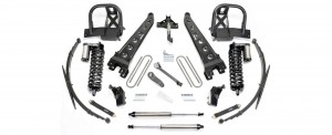 "FABTECH  2011-16  8"" Radius Arm System w/ Front Dirt Logic 4.0 Coilovers & Rear Dirt Logic Shocks - Ford F250/F350 4WD & 2011-13 Ford F450 4WD (8 Lug)"