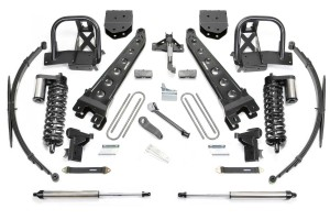 FABTECH 2011-16 Ford F250 4WD-10″ RADIUS ARM SYSTEM W/ DIRT LOGIC 4.0 COILOVERS & REAR DIRT LOGIC SHOCKS