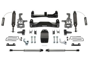 FABTECH 2014 Ford F150 4WD -4″ PERFORMANCE SYSTEM W/ FRONT & REAR W/ DIRT LOGIC 2.5 RESI COILOVERS
