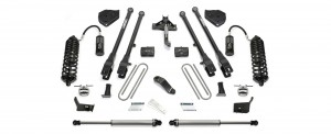 """2017  Fabtech  6"""" 4 Link System w/ Front Dirt Logic 4.0 Resi Coilovers & Rear Dirt Logic 2.25 Shocks -Ford F250/F350 4WD"""