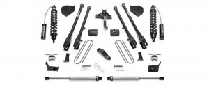 """2017  Fabtech  6"""" 4 Link System w/ Front Dirt Logic 2.5 Resi Coilovers & Rear Dirt Logic 2.25 Shocks - Ford F250/F350 4WD"""