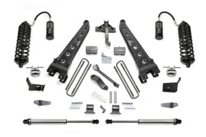 FABTECH 2011-16 FORD F250 4WD-6″ RADIUS ARM SYSTEM W/DIRT LOGIC 4.0 RESI COILOVERS & REAR DIRT LOGIC SHOCKS