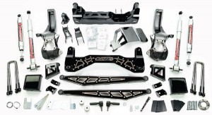 """McGaughy's 7""""-9"""" Premium Black Stainless Steel Lift Kit for 2019+ GM Truck 1500 (4WD)"""