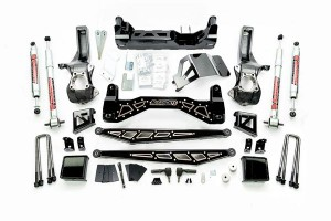 """McGaughy's 7""""-9"""" Premium Black Stainless Steel Lift Kit for 2019+ GM Truck 1500 (2WD)"""